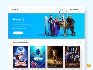 Smart TV UI – AnimTv