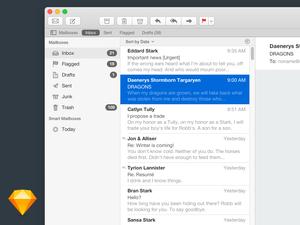 Apple Mail UI in Sketch