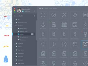 Iconjar App Dark Mode Concept