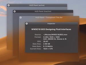 macOS Mojave-Style HUD Panels