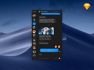 Minimalist Messenger Dark Theme