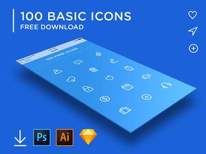 100 Basic Icons Set