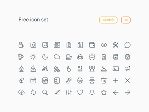 20×20 Line Icons Set