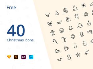 40 Christmas Icons for 2019