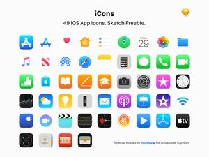 49 iconos de aplicaciones de Apple