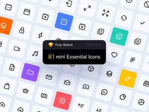 81 Mini Essential Icons