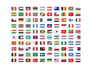 Country Flags Kit Sketch Freebie