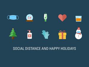 Social Distancing Christmas Icons