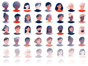 Diverse Avatars Sketch Resource