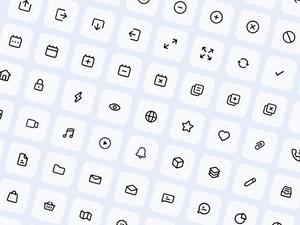 81 Mini Essential Icons Sketch Resource