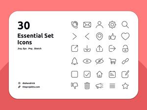 30 Essential Icons Set