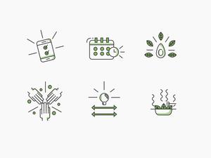 Food App Icons Set
