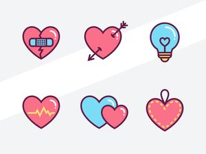Hearts Icon Set