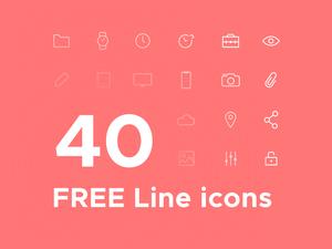 40 Line Icons