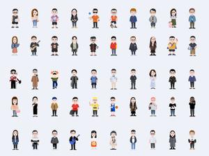 100 Cartoon Characters Sketch Resource