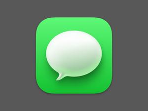 Big Sur Messages Icon Sketch Resource