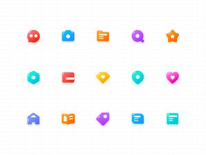 Jelly Icons Set