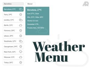 Weather Menu Sketch Resource