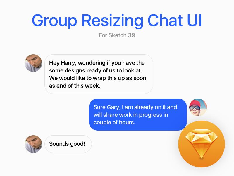 Chat UI Group Resizing