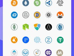 100 Blockchain (Cryptocurrency) Icons