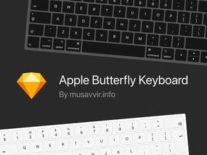 Apple Butterfly Keyboard Vector
