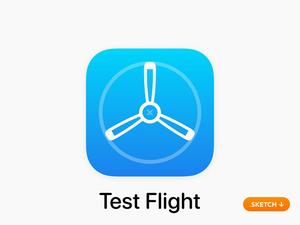 Apple Test Flight App Icon (iOS 13)