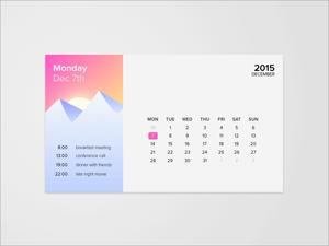 Calendar and Weather Widget