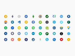 50 Cryptocurrency Logos