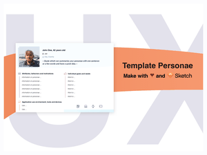 Persona Template Sketch for UX Designers