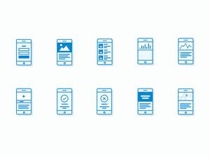 Mobile App Flowchart Icons