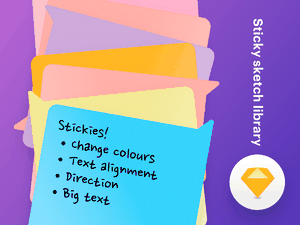 Sticky Post-it Notes Sketch Library