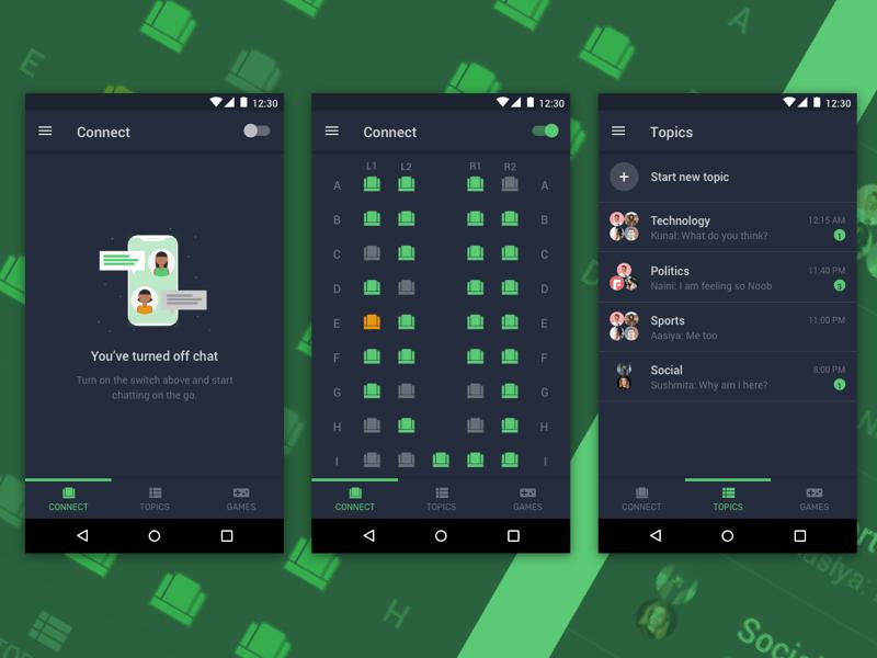 GOssip Chat App Concept Sketch Resource