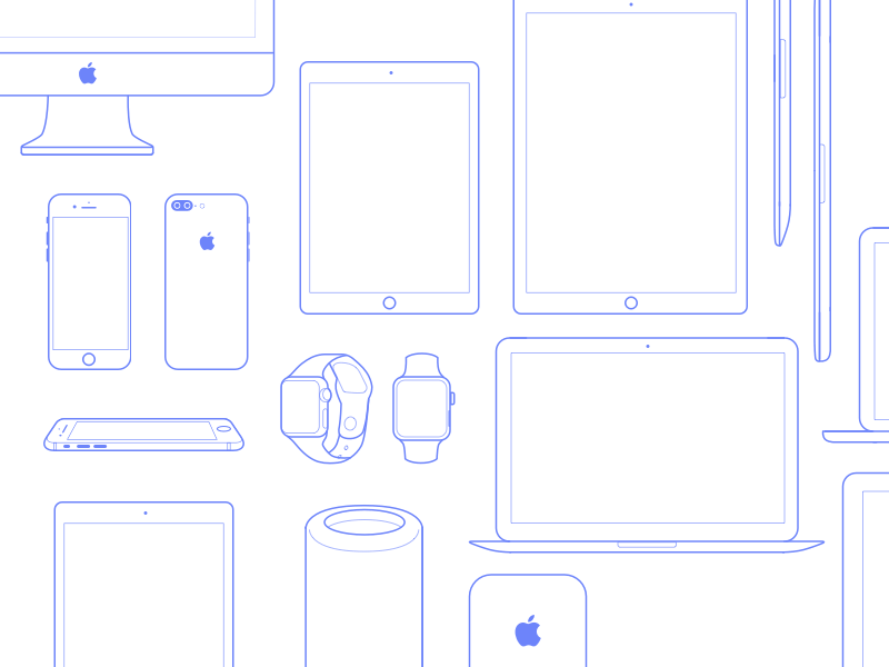 Apple Devices Icons Set Sketch Resource