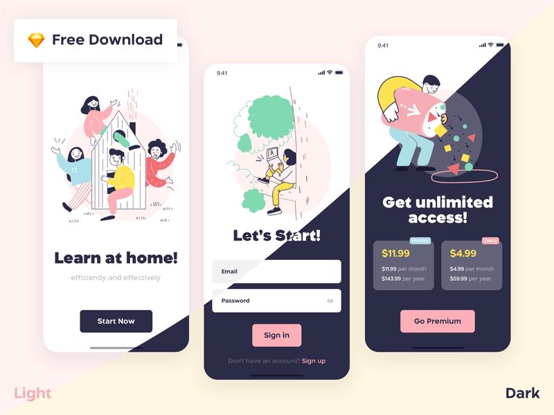 Design Courses App Concept