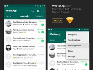 Diseño de la interfaz de usuario de WhatsApp Chat en Sketch