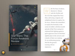 Star Wars Blog Post UI