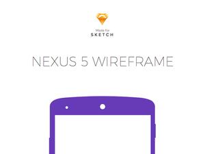 Nexus 5 ワイヤフレーム Sketch リソース