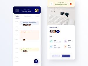 Activity Calendar Screen in Courses App