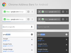 Android Chrome Address Bars Sketch Resource