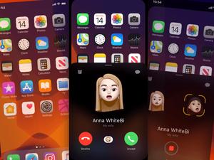 New Animoji Call Screen Concept Sketch Resource