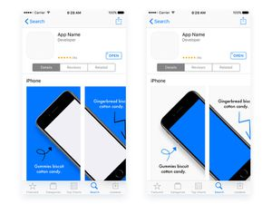 App Store Preview Templates Sketch Resource