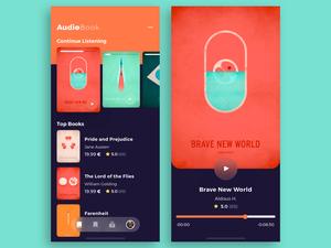 Audio Book App Concept Sketch Resource