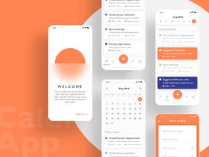 iOS Calendar App Concept Sketch Resource