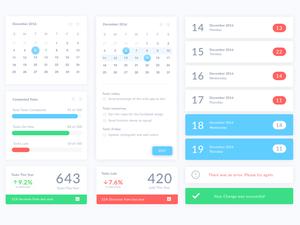 Calendar UI Elements Sketch Resource
