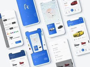 Car Rental Service App Concept