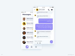 Chat Messages UI Design