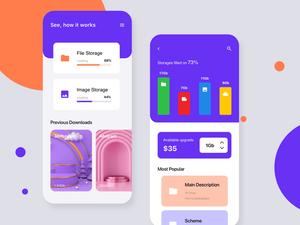 Cloud Storage App Concept Sketch Resource