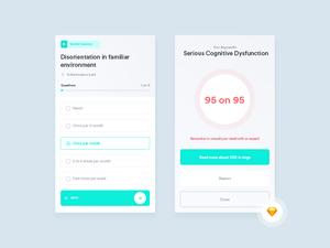 Cognitive Dysfunction Syndrome App Concept