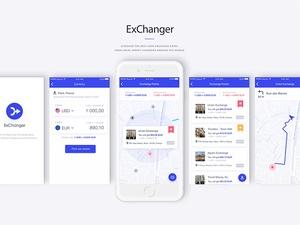 Währungsaustauscher-App-Sketchnressource