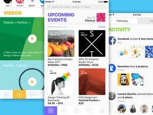 Design Social Network App Sketch Resource
